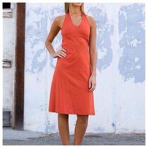 Patagonia Burnt Orange Stretch Halter Dress